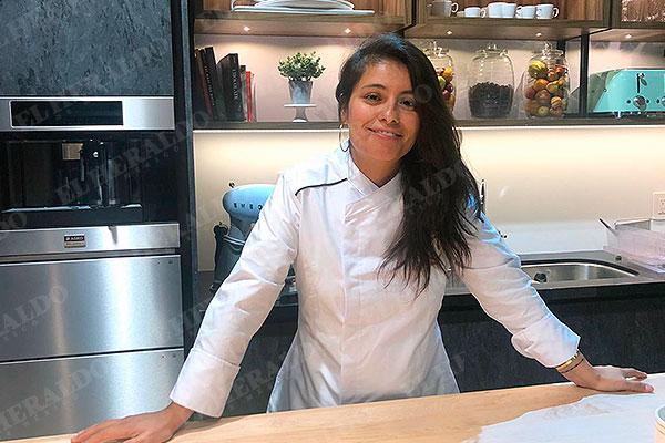 Carmen Miranda desde la cocina de GastroLab en El Heraldo de México. Foto: especial