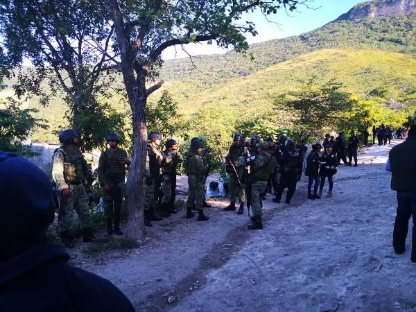 Derivado de los acuerdos de la Mesa de Seguridad Estatal, se recuperó un bien nacional en la reserva del Parque Nacional Cañón del Sumidero. FOTO. ESPECIA
