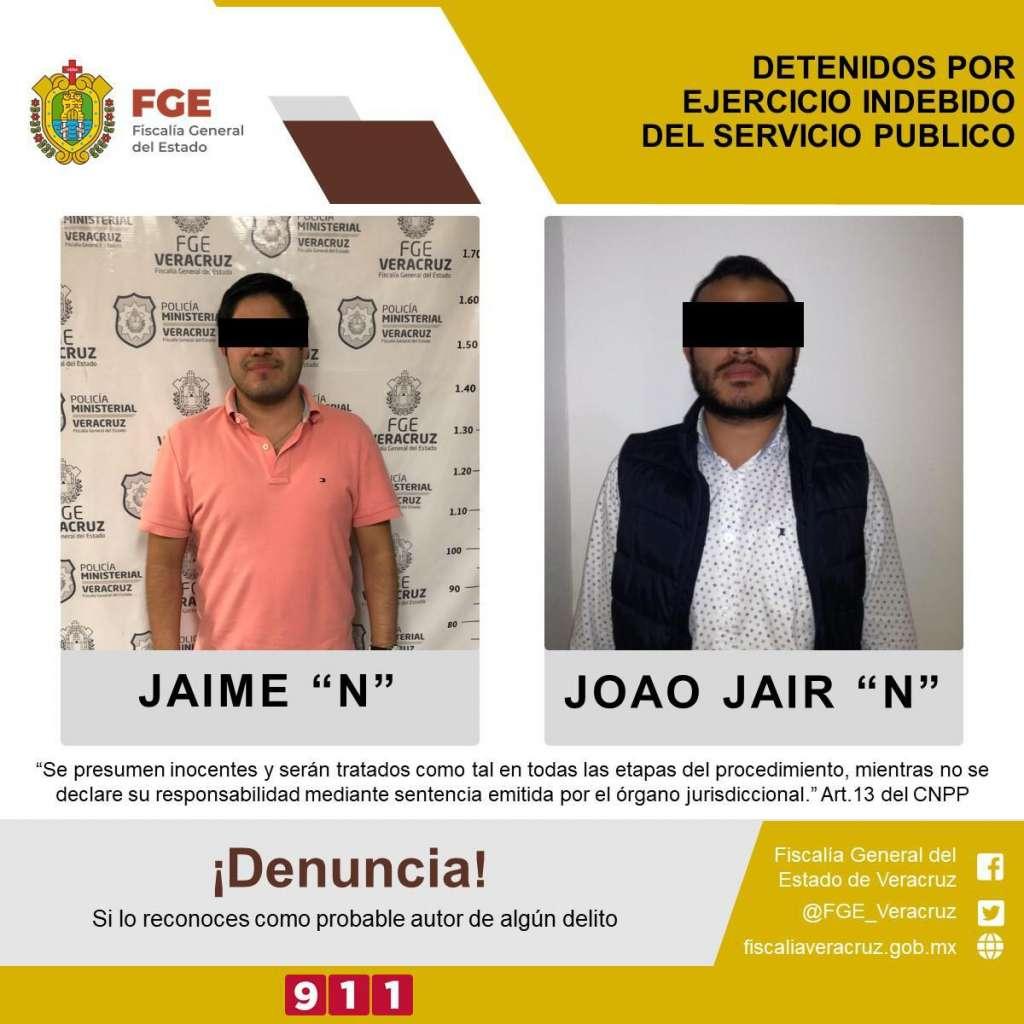 Detención en Veracruz. Foto: Fiscalía General del Estado.