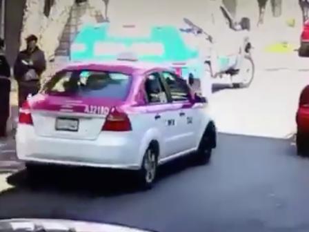 Taxi, supuestamente involucrado. Foto: captura de pantalla.