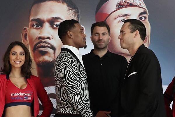 Marchroom Boxing confirmó la contienda a través de una conferencia de prensa y en presencia de su presidente, Eddie Hearn. El combate será en la categoría las 168 libras (Supermediano). Foto: Matchroom Boxing