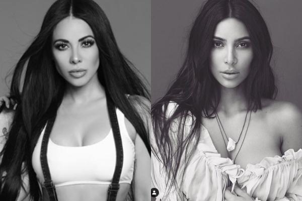 ¡Encuentra las diferencias! Jimena Sánchez posa igualita a Kim Kardashian: FOTOS