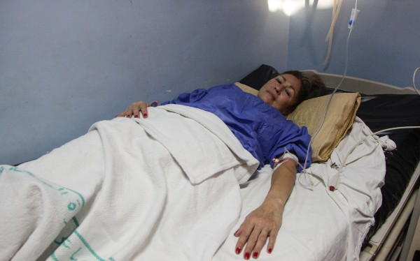 AGRADECIDA. Luz María dijo sentirse arropada por las autoridades mexicanas en Jordania. Foto: AFP