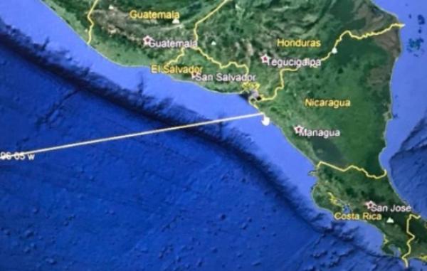 El Departamento de la Defensa de los Estados Unidos advirtió esta tarde sobre la llegada de un tsunami a costas de El Salvador. FOTO: @nayibbukele