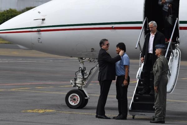 Ebrard recibió a Evo Morales. Foto: Leslie Pérez