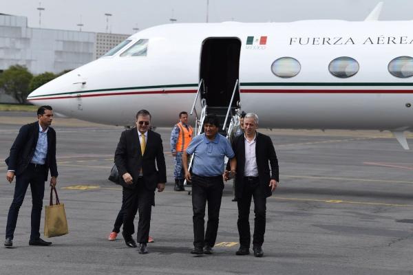 En la grabación Evo Morales agradece al presidente Andrés Manuel López Obrador. FOTO: Leslie Pérez