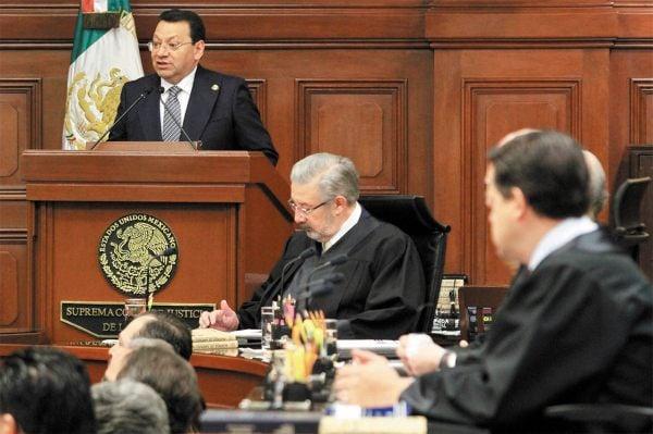 TRABAJO. Fuentes presentó ayer su informe en la Suprema Corte de Justicia de la Nación. Foto: Notimex.