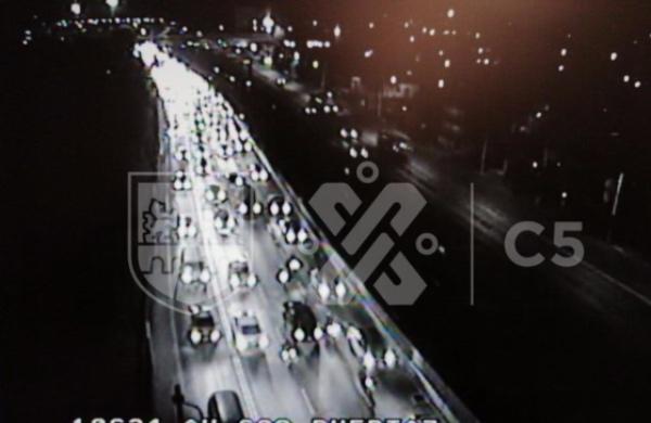 Avenida 608 presenta tránsito desde el sur de Avenida 412 hasta circuito interior. FOTO: @C5_CDMX
