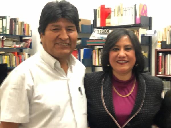 Evo Morales e Irma Eréndira Sandoval. Foto: Especial