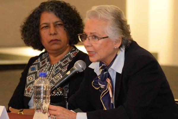 Olga Sánchez Cordero, secretaria de Gobernación. Foto :Especial