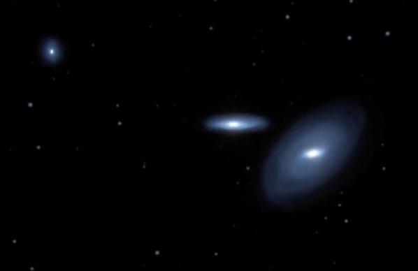 Los científicos dieron a conocer que la Vía Láctea será devorada por la galaxia vecina Andrómeda. FOTO: Especial