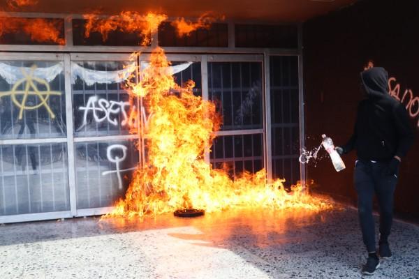 UNAM-denuncias-vandalismo-CU-protesta