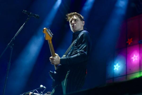 Alex Kapranos, vocalista de la banda. Foto: Leslie Pérez.