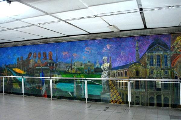 Los murales fueron realizados en cooperación entre México y Francia. Foto: Especial