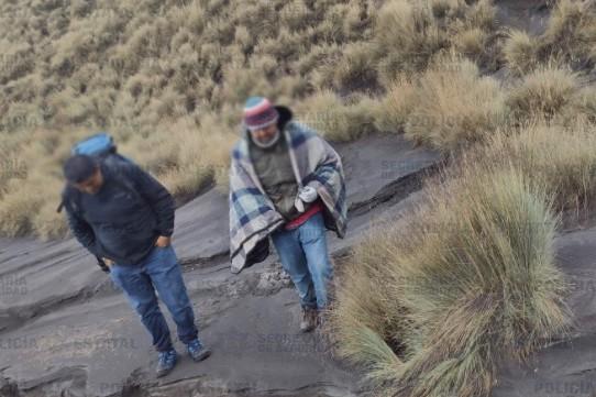 """Los elementos de seguridad localizaron a Germán """"N"""", cerca de la estación de CENAPRED conocida como los """"Encinos"""". Foto: Especial"""