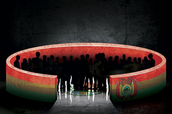 """EL TEMOR DE EVO. El expresidente Evo Morales tiene """"mucho miedo"""" a que estalle en Bolivia una guerra civil. Ilustración: Miguel Ulloa"""