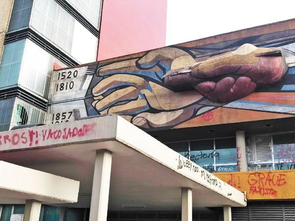 DAÑOS. La obra de David Alfaro Siqueiros se encuentra en Ciudad Universitaria. Foto: Cuartoscuro