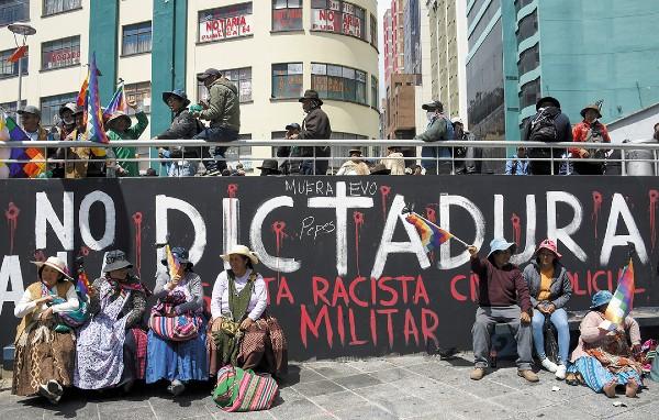 FURIA. Los partidarios del expresidente boliviano Evo Morales participaron en una manifestación. Foto: AFP