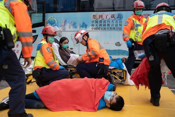 IRA. Los manifestantes recibieron atención médica. Foto: EFE