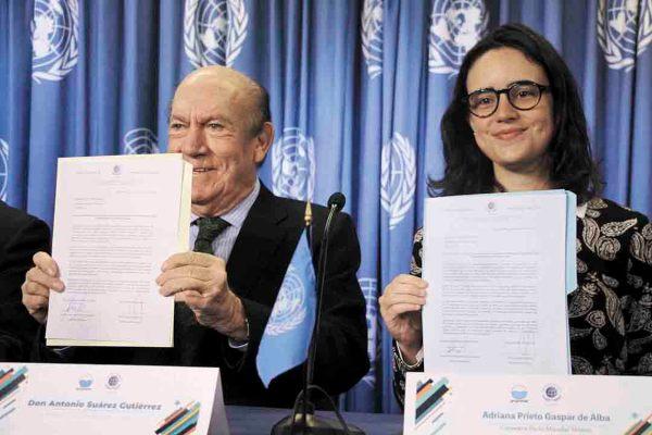 FIRMA. Grupomar se adhiere al Pacto Mundial de la ONU. Foto: Especial.