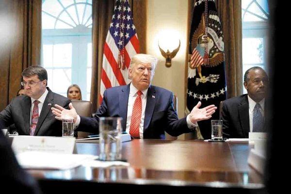 JUNTA. El presidente de EU se reunió con su gabinete en la Casa Blanca. Foto: REUTERS