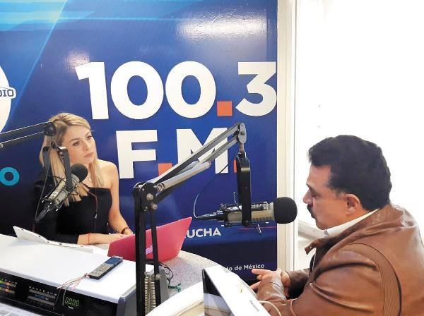 JALISCO. El ex delegado federal en la entidad estuvo en la cabina de El Heraldo Radio. Foto: Especial