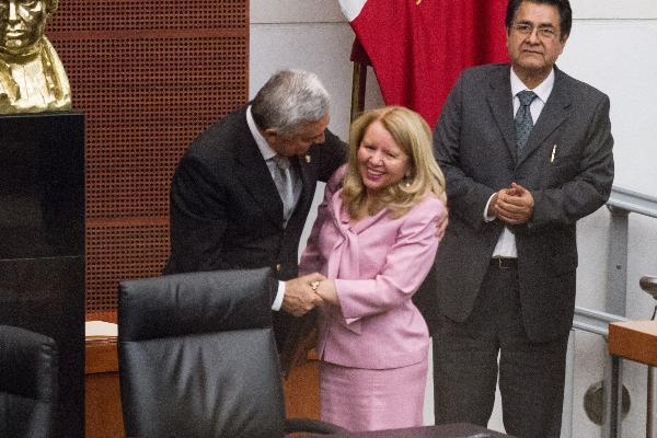 Loretta Ortíz, fue elida como consejera de la Judicatura Federal . FOTO: VICTORIA VALTIERRA /CUARTOSCURO.COM