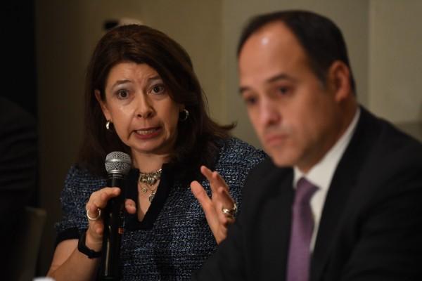 Lisa M. Schineller, analista de la calificación soberana de México. Foto: Leslie Pérez
