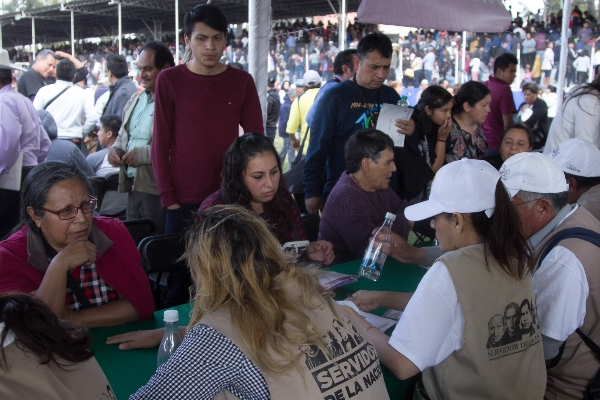 El presidente Andrés Manuel López Obrador, encabezó la presentación del plan para el desarrollo integral para el bienestar, la cual será integrada por diversos programas sociales. FOTO: GALO CAÑAS /CUARTOSCURO.COM