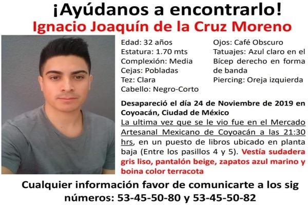 desaparición Joaquín de la Cruz Moreno El Heraldo de México CDMX