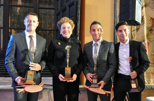 GALARDONADOS MEXICANOS. Javier Hernández, Roberta Lajous, Andrés Guardado y Diego Lainez. Foto: Cortesía