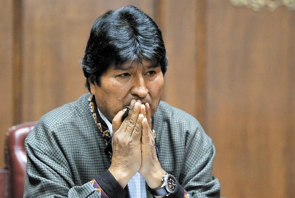 DENUNCIA. El boliviano Evo Morales ofreció un discurso en el Club de Periodistas. FOTO: AFP
