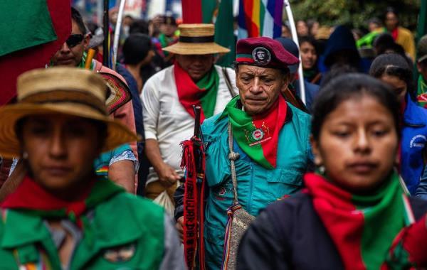 La líder señaló que aún existen las violaciones a los derechos humanos contra los pueblos aborígenes. Foto: EFE