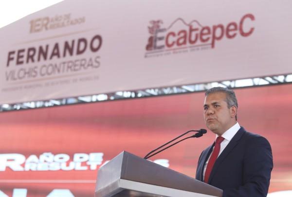 Fernando Vilchis, presidente municipal de Ecatepec. Foto: Especial