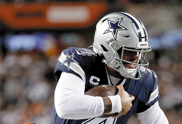 Los Cowboys siguen sin ganar. Foto: AFP