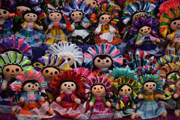 muñecas Otomí en la CDMX