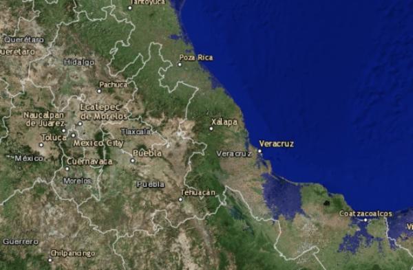Ciertas zonas de Veracruz resultarían afectadas. FOTO: Flood Map