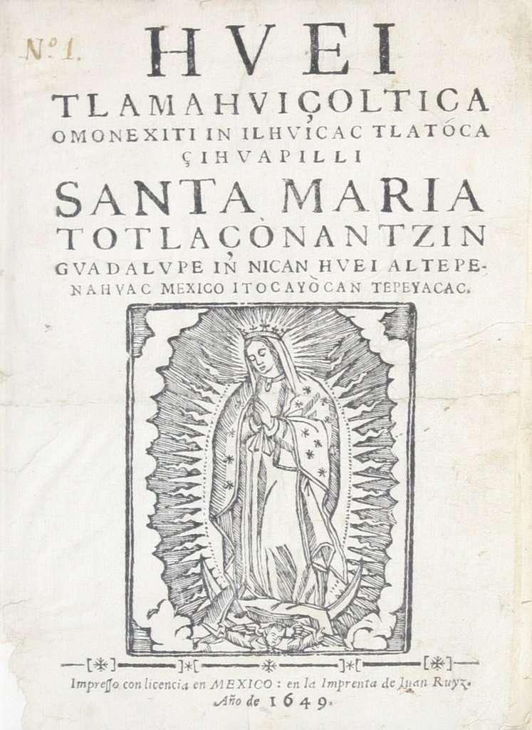 Virgen de Guadalupe. Foto: Especial