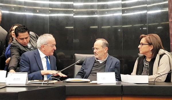 DEBATE. El subsecretario para América del Norte de la SRE, Jesús Seade, explicó a senadores las repercusiones del T-MEC en México. Foto: Misael Zavala