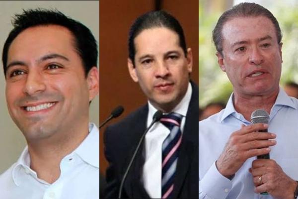 Vila Dosal, Francisco Domínguez y Quirino Ordaz, estuvieron entre los mejores gobernadores evaluados, se le consultó a ciudadanos de las 32 entidades sobre situaciones hipotéticas. Foto: Especial