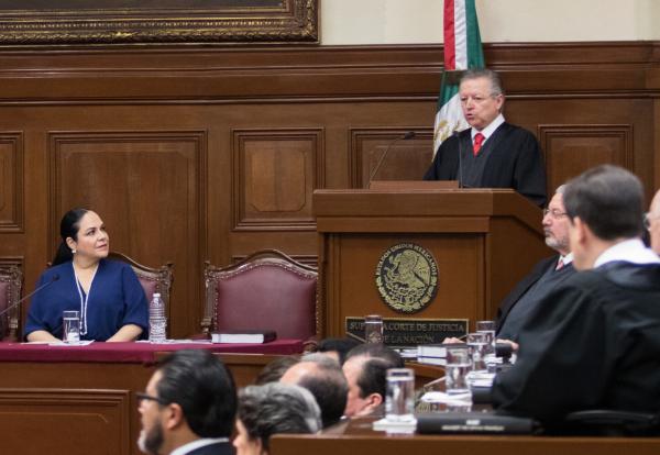 RECUENTO. El ministro presidente Arturo Zaldívar presentó el miércoles su primer informe. Foto: Cuartoscuro