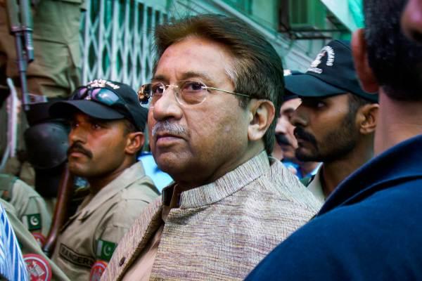 VISITA. Musharraf estuvo en un tribunal antiterrorismo. Foto: AP