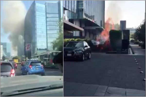 Se incendia edificio en Santa Fé. Foto_ Especial