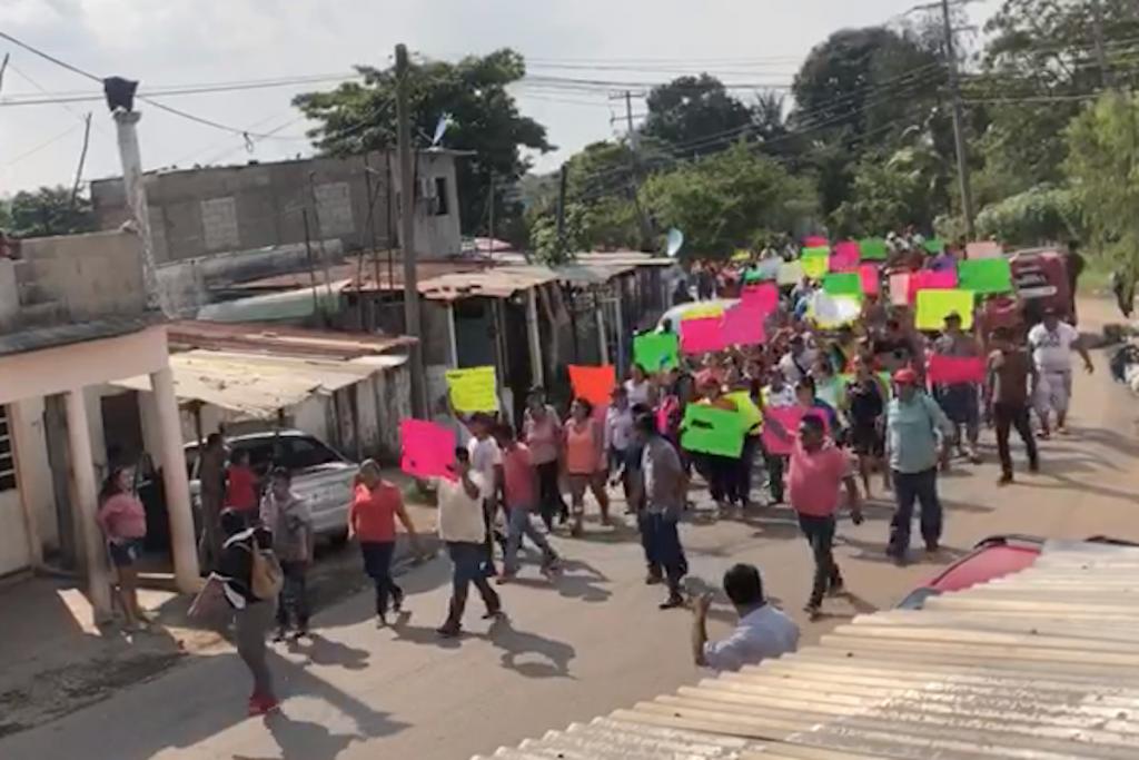 MArchan para exigir liberación de narco en Tabasco