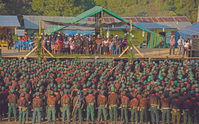 FUERZA. El cónclave zapatista se realizó en el Semillero Huellas del Caminar de la Comandanta Ramona, en la comunidad de Morelia, municipio de Altamirano. Foto: Cuartoscuro