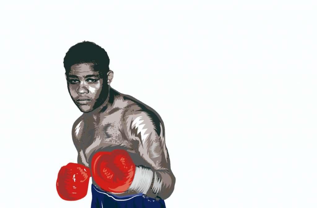 JOE LOUIS. Miembro del Salón Internacional de la Fama del Boxeo de Canastota, NY (1990). Ilustración: Erick Retana