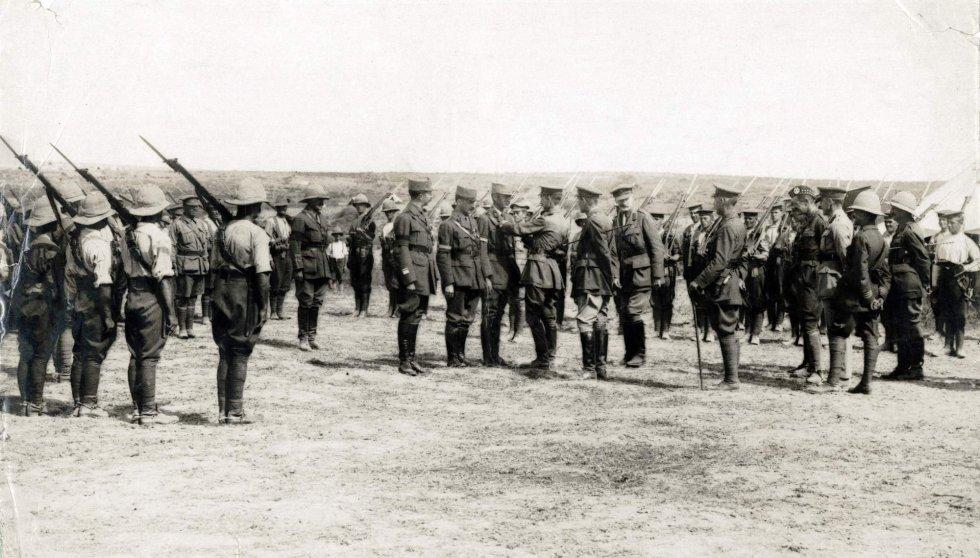 Fuerzas de la Triple Entente. Foto: Archivo publicada por el Historial de Peronne.