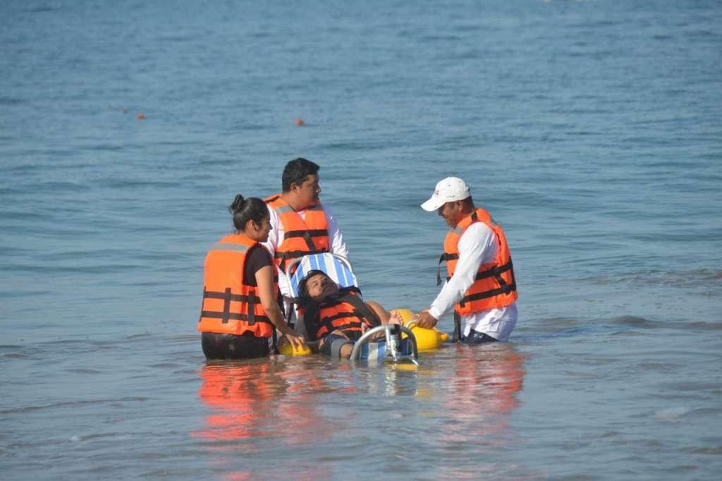 ESTRENO. Este miércoles fue inaugurada la playa Quieta, segunda de su tipo en la entidad. Foto: Especial