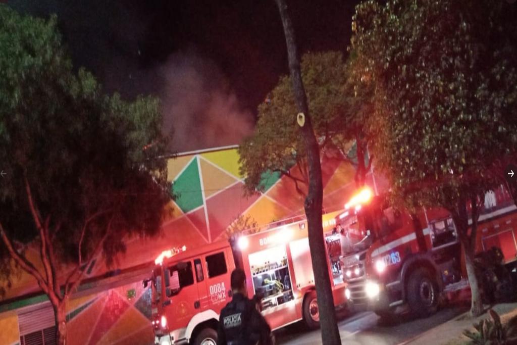 Incendio en el Mercado Morelos CDMX