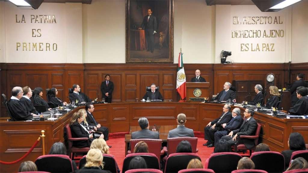 EN VILO. El Pleno de la SCJN aprobó el proyecto del ministro Alfredo Gutiérrez Ortiz Mena.  Foto: Especial